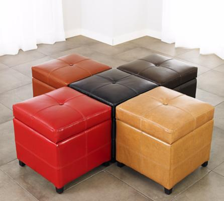 Padded Ottomans