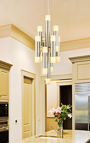 Large contemporary chandelier design.