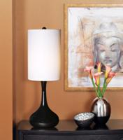 Black Finish Moderne Table Lamp