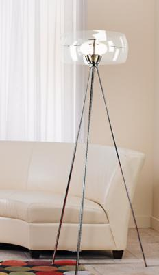 Glass Tripod Floor Lamp