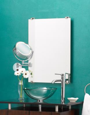 Chrome Lighted Bath Mirror