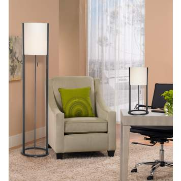 The flex home office room scene is a tranquil space to relax or work from home.
