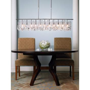Take the edge off with a luxe chandelier.