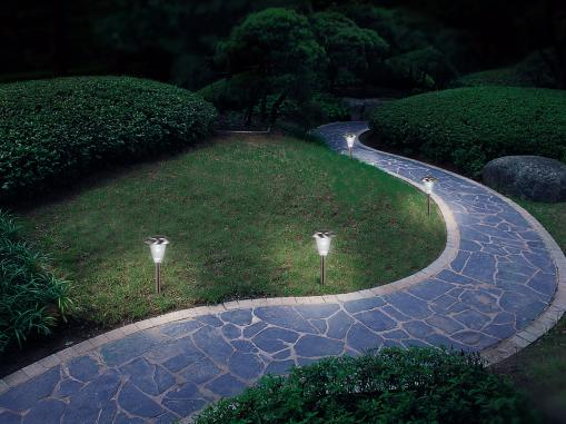 Solar Power Landscape Lights Photo