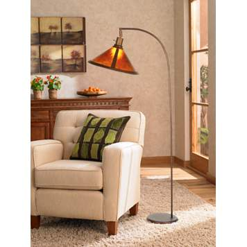 An arched floor lamp is the perfect reading lamp.