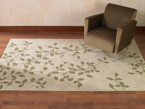 Contemporary Leaf Rug Photo