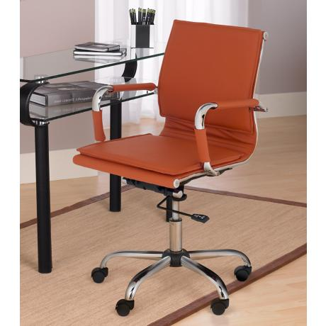 A Leather Desk Chair in a Home Office
