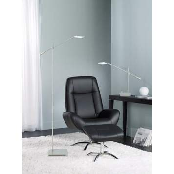 Sleek and minimalist lighting complements this modern office design picture.