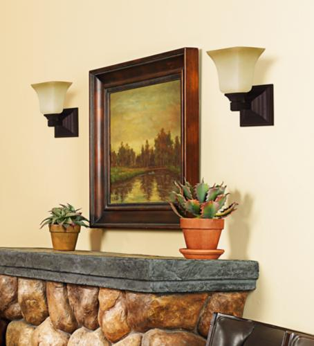 Wall sconces over a fireplace creates a classic look. - Lighting & Decor by LampsPlus.com