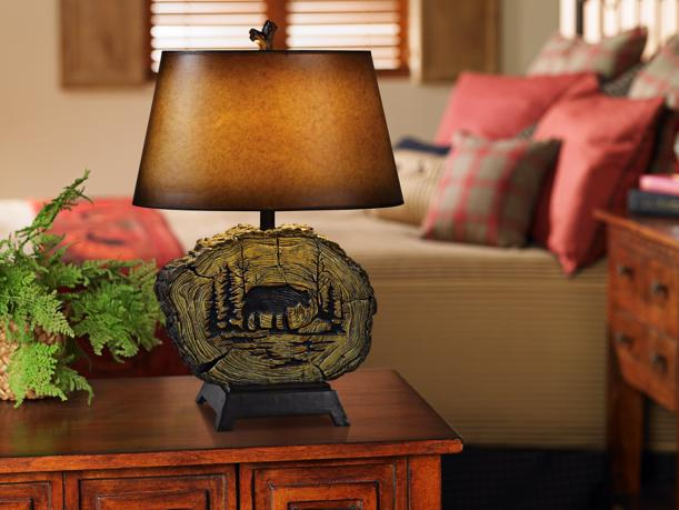 Rustic table lamp.