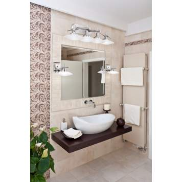 Patterned tiles are a fabulous design detail in this bathroom decor!