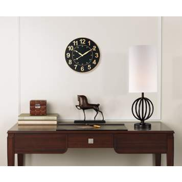 Stay on the clock in this handsome home office.