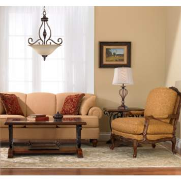 Intricate details create a luxurious traditional living room design.
