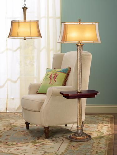 Floor lamp in a reading nook.