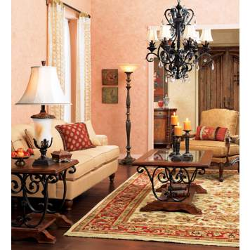 Create a timeless living room design with traditional furnishings.