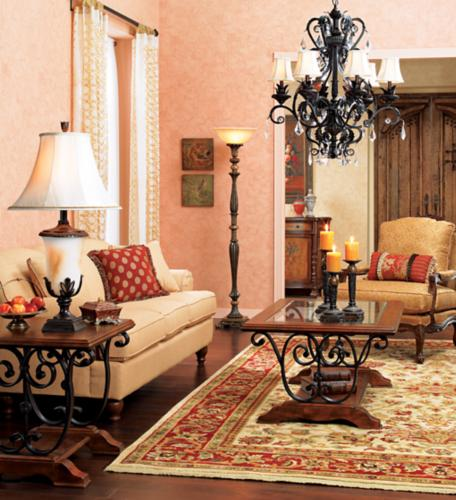 timeless living room, traditional furnishings, bronze chandelier, neutral tones