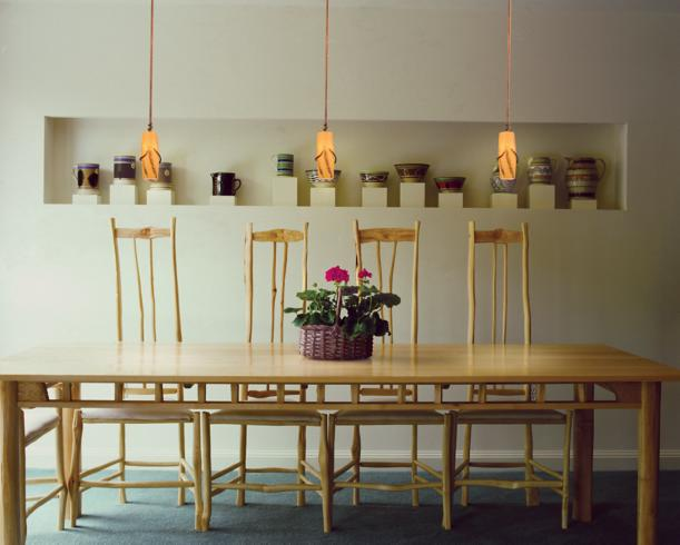 dining room contemporary decor style pendant lighting wood dining