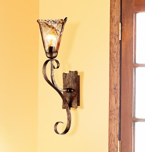 rustic wall sconce, entryway, home