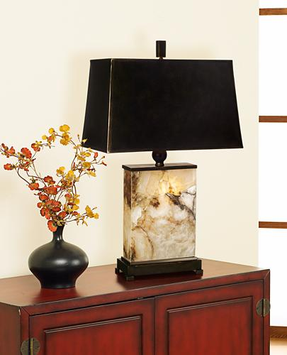 table lamp, marble, entryway