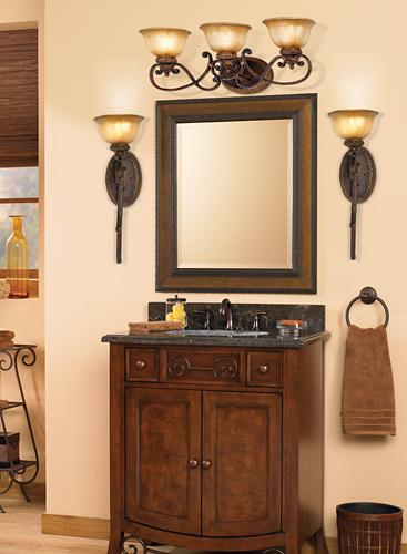 Traditional bathroom vanity.