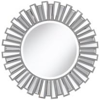 "Silver Sunburst 30"" Wall Mirror"