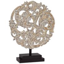 Antique Silver Round Filigree on Stand