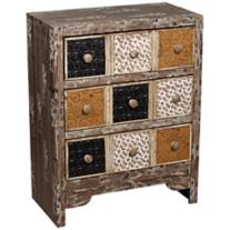 Weathered 3-Drawer Cream Console