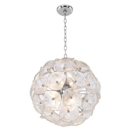 Crystal Blossom Twelve Light  Pendant Chandelier
