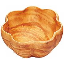 "Acacia Flared 12"" Serving Bowl with Spoons"
