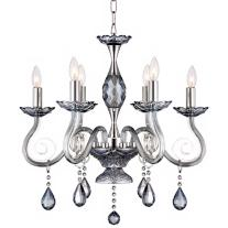 "Milano 6-Light 22 1/2"" Wide Chrome Crystal Chandelier"
