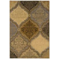 "Jasmine Gray Gold 5'3""x7'6"" Area Rug"