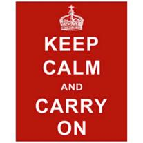 "Keep Calm and Carry On Red 20"" Wall Art"