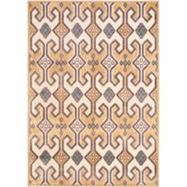 "Paradise Collection 4' x 5'7"" Gold Area Rug"