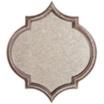 Tensift Beige Antiqued Glass Mirror