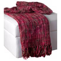 Soft Acrylic Red - Pink Throw Blanket