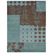 Zurick 5'x8' Brown and Blue Area Rug