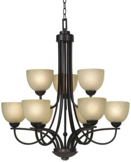 Franklin Iron Works Bennington Collection 9-Light Chandelier (05938)