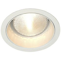 "Lightolier 5"" Line Voltage White Alzak Recessed Light Trim"