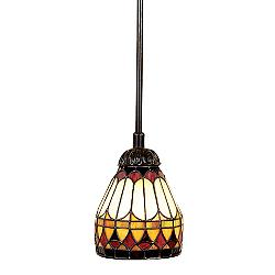 Piccolo Tiffany Style Mini Pendant Chandelier