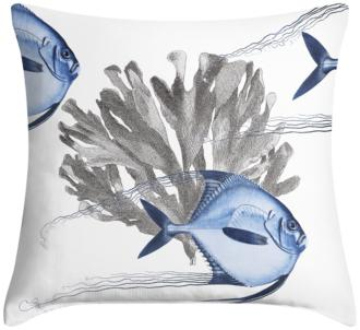"Blue Angelfish 18"" Square Throw Pillow (12G11-15X76-7C917)"