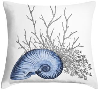 "Blue Nautilus 18"" Square Throw Pillow (12G11-15X81-7C917)"