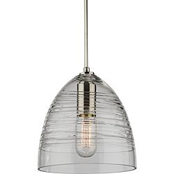 "CobiStyle Artisan 7 3/4""W Brushed Nickel Mini Pendant"