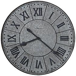 "Howard Miller Manzine 32""H Ancient Charcoal Gray Wall Clock"