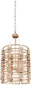 "Metropolis 19"" Wide Modern Gold Lattice-Cage Pendant Light (13N00) 13N00"