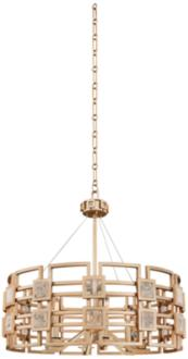 "Metropolis 28"" Wide Modern Gold Lattice-Cage Pendant Light (13N03) 13N03"