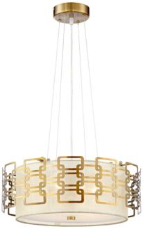 "Possini Euro Riley 17 1/2"" Wide Gold Pendant Chandelier (13W71) 13W71"