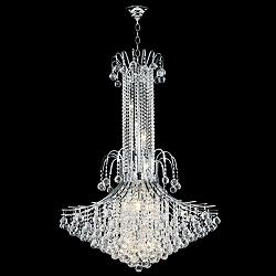 "James Moder Cascade 36"" Wide Silver Entry Crystal Chandelier"