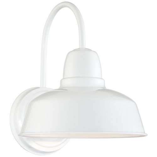 "Urban Barn Collection 13"" High White Outdoor Wall Light"