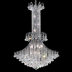 "Toureg 35"" Wide Chrome 16-Light Crystal Chandelier"