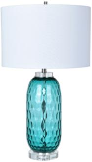 Crestview Collection Intrada Blue Dimple Glass Jug Table Lamp (15N83) 15N83